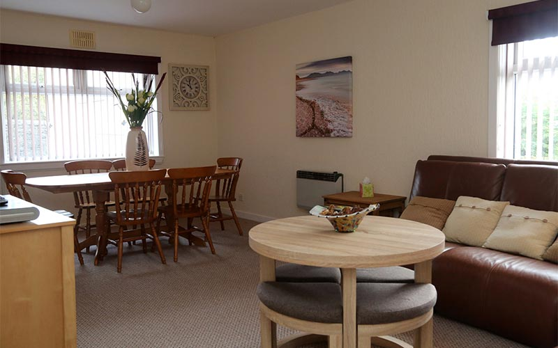 Dining facilities for guests to use